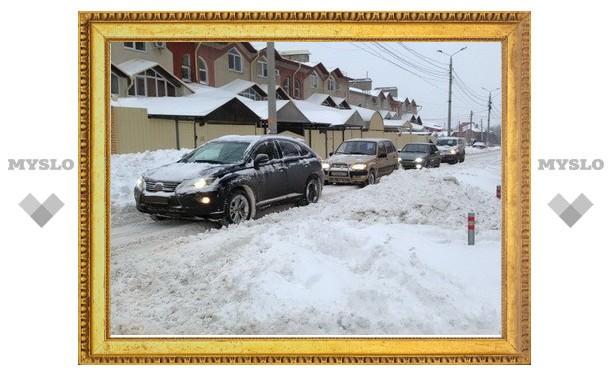 Из Тулы вывезли 1000 кубометров снега