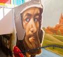 Победители конкурса граффити наносят свои рисунки в подземных переходах Тулы