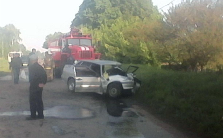 В Тульской области «пятнашка» лоб в лоб столкнулась с автобусом: водитель легковушки погиб