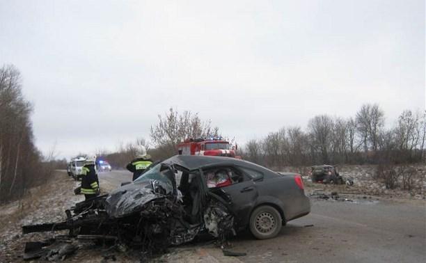 В результате ДТП в Одоевском районе погибли два человека
