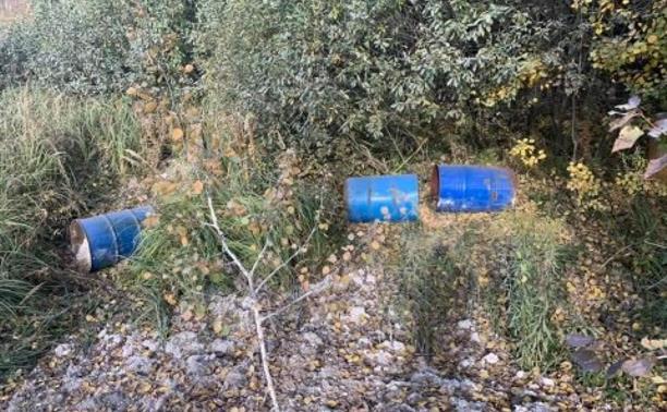 В Туле обнаружены несанкционированная свалка и хранилище нефтепродуктов