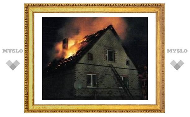 Под Тулой сгорело пять дач