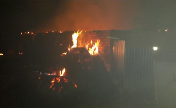 Ночью в Ясногорском районе сгорели сараи и гараж с двумя автомобилями