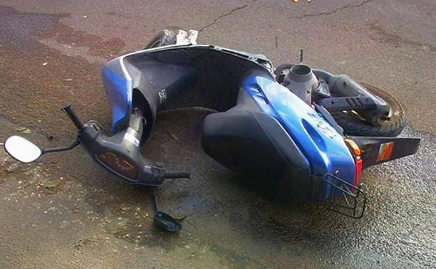 В Заокском районе по вине водителя скутера 8-летний ребёнок попал в больницу