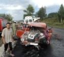 "В Киреевском районе ""КамАЗ"" раздавил легковушку"
