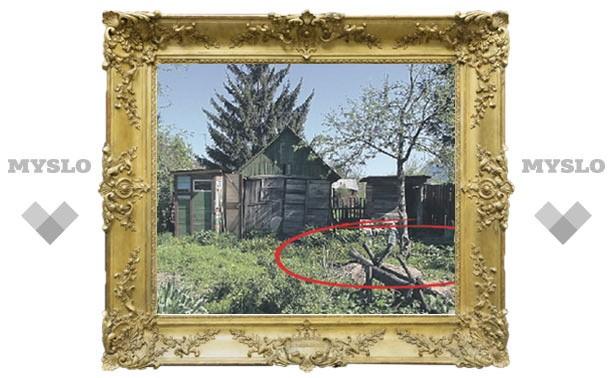 Туляк закопал мать в огороде