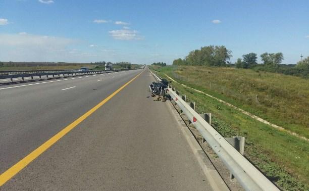 В аварии на М4 пострадал мотоциклист