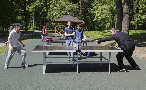 В Рогожинском парке поставили столы для тенниса и собираются очистить пруд