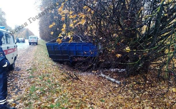 В Тульской области КамАЗ влетел в дерево: водитель погиб