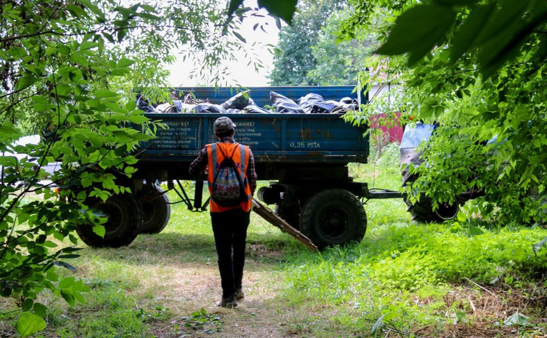 С незаконной свалки на улице Батищева в Туле вывезут 250 кубометров мусора
