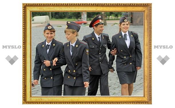 Тульские офицеры милиции отправились на работу в Калугу