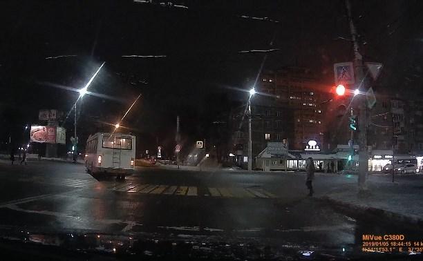 Тулгорэлектротранс: По факту нарушения ПДД водителем троллейбуса начата служебная проверка