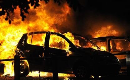 На трассе «Тула-Новомосковск» сгорела иномарка