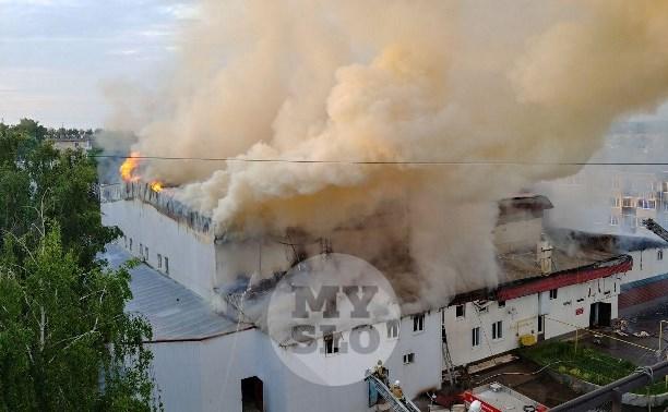 Крупный пожар в Щекино: репортаж с места событий
