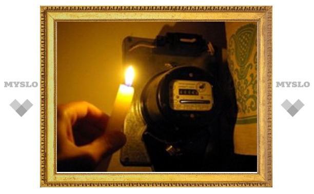 Электричество отключалось в 12 районах Тульской области