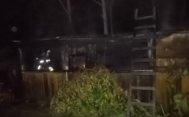 Ночью 27 августа в Заокском районе сгорела баня
