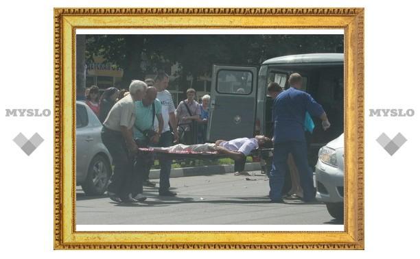 В Туле иномарка сбила пешехода