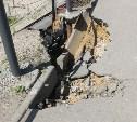 В Туле обрушивается часть Одоевского путепровода