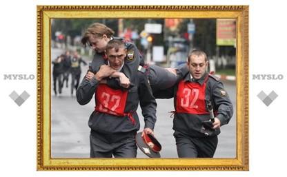 Тульские полицейские побегали по проспекту Ленина