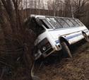 В Тульской области перевернулся пассажирский автобус