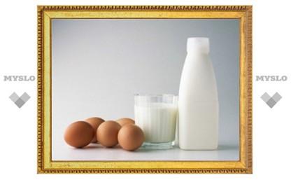 В Тульской области снизились показатели производства молока и яиц.
