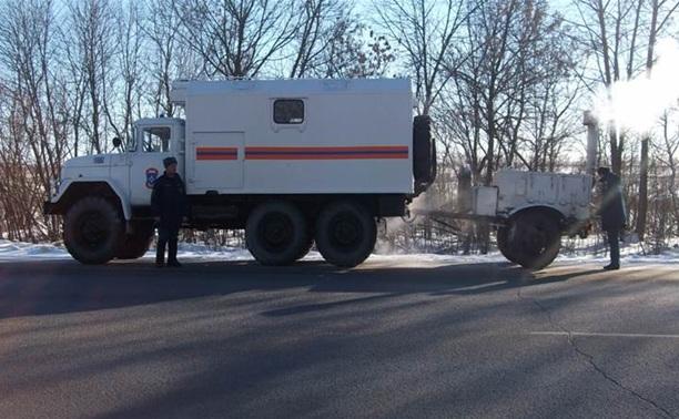Тульские спасатели готовы прийти на помощь к замерзающим водителям