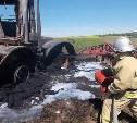 На дороге «Тула – Новомосковск» сгорел трактор