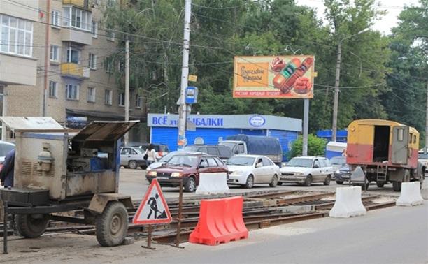 Отремонтирован трамвайный переезд на перекрестке ул.Советской и ул.Оборонной в Туле