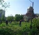 Возле храма Сергия Радонежского в Заречье начали разбивать сквер