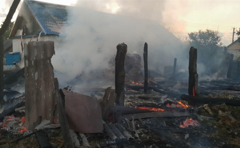 В Арсеньевском районе сгорела пристройка к жилому дому