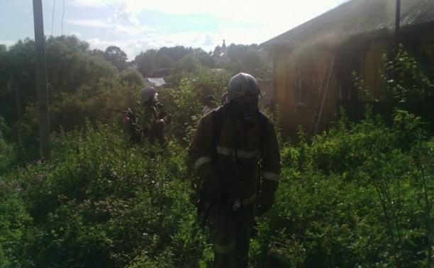 23 июня в Дубенском районе загорелся заброшенный дом