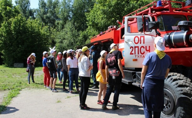 Тульские спасатели провели «День безопасности» в лагере «Орлёнок»