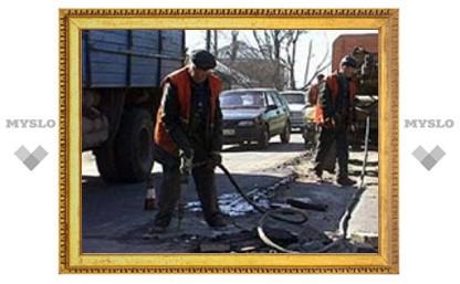 В Туле начат весенний ремонт дорог