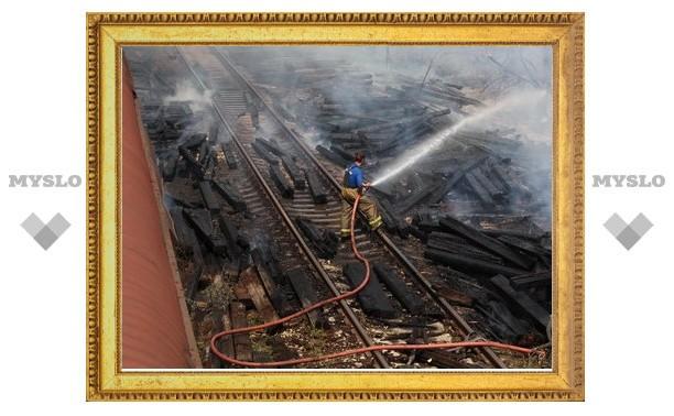 В Туле загорелись вагоны