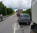 Под Тулой Калужская трасса полностью перекрыта из-за ДТП