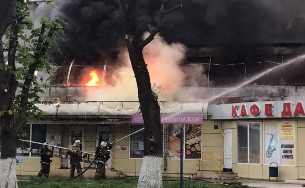 Как в Туле горел рынок «Салют»: фоторепортаж и видео
