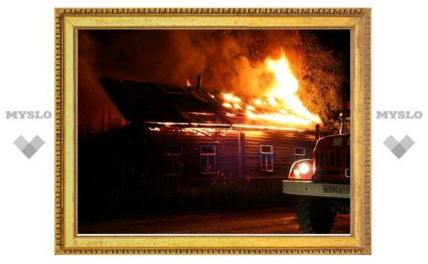 Под Тулой заживо сгорел человек