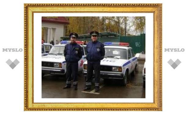 Тульские милиционеры получили новые машины
