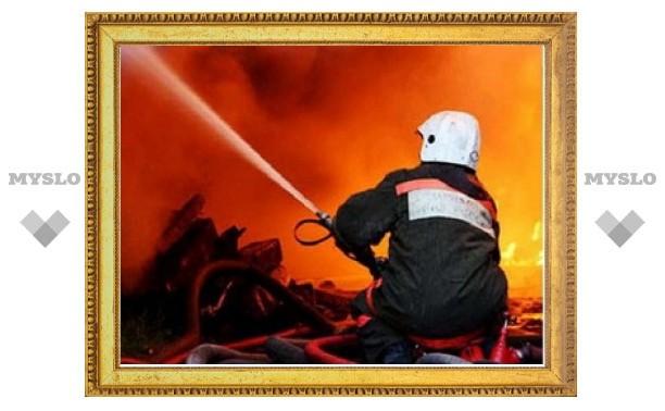 В центре Тулы сгорела дорогая иномарка