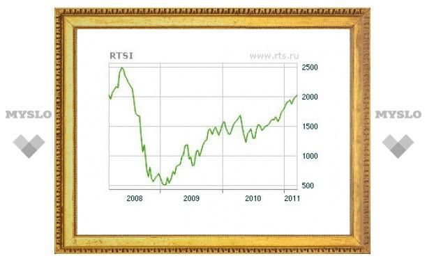 Индекс РТС поднялся выше 2000 пунктов
