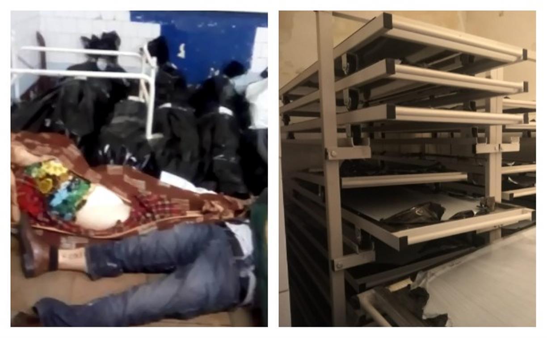Очередной скандал в тульском морге: куча тел на полу, а новые стеллажи пусты