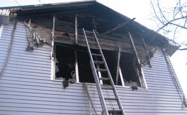 Ночью в Криволучье загорелся частный дом