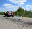 В Туле проводится ямочный ремонт дорог методом пневмонабрызга