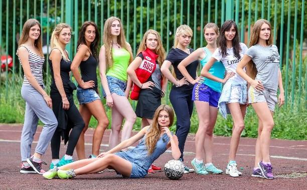 Тульская женская команда по футболу провела очередную тренировку
