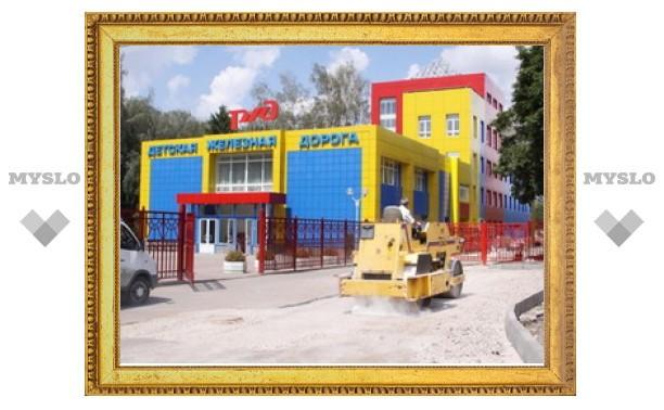 В Новомосковске завершается реконструкция Детской железной дороги