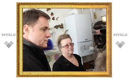 В Арсеньевском районе Владимир Груздев проверил, как подвели газ