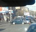 На проспекте Ленина столкнулись автомобиль ДПС и ВАЗ-2107