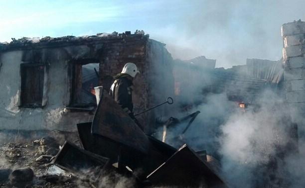 1 июня в Туле сгорел частный дом