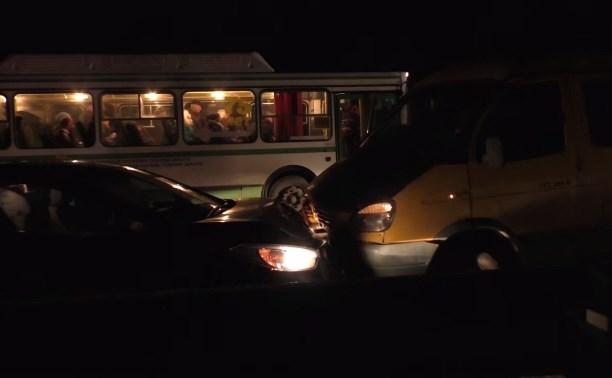 На мосту через Воронку столкнулись 8 автомобилей
