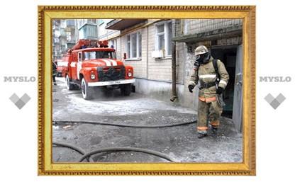 В Туле произошел загадочный пожар